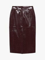 Thumbnail for your product : MANGO Faux Leather Midi Skirt, Dark Red
