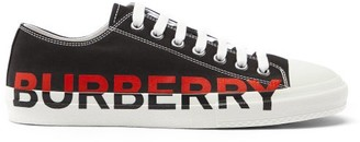 Burberry Larkhall Logo-print Canvas Trainers - Black