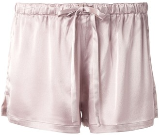 Goodious Low-Rise Satin Shorts
