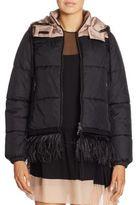 No.21 NO. 21 Ostrich Feather-Trim Puffer Jacket
