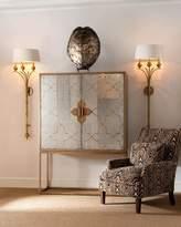 John-Richard Collection Goldhurst Eglomise Cabinet