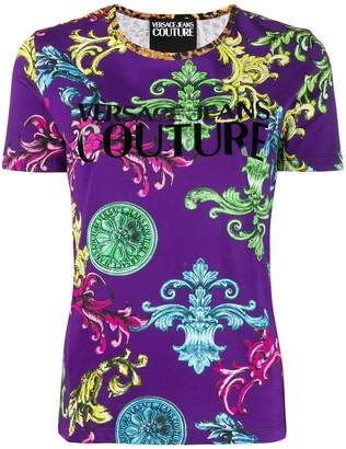 Versace mixed print T-shirt