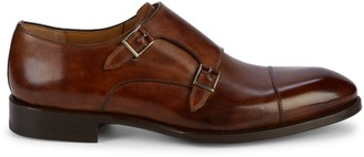 Magnanni Double Monk-Strap Leather Oxfords