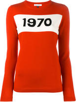 Bella Freud 1970 intarsia sweater - women - Wool - XS