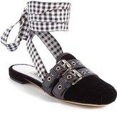 Miu Miu Lace-Up Slide Loafer (Women)