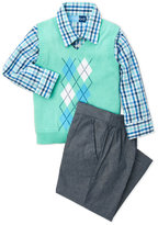 Good Lad Toddler Boys) 3-Piece Argyle Vest & Chambray Suit Pants Set