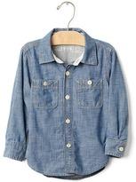 Gap 1969 Jersey-Lined Chambray Shirt