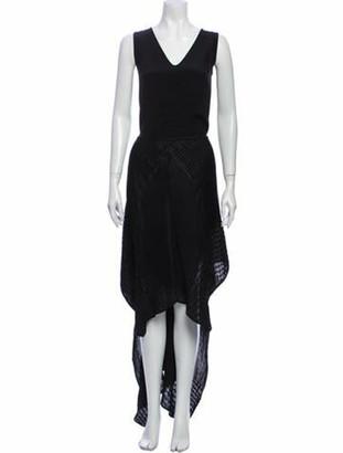 Zero Maria Cornejo V-Neck Long Dress w/ Tags Black
