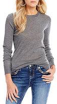 Miss Me Criss-Cross Back Long Sleeve Sweater