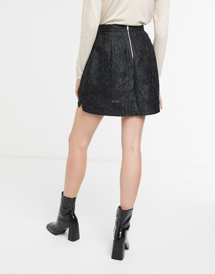 Thumbnail for your product : And other stories & jacquard pelmet mini skirt in black