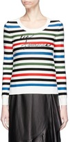 Sonia Rykiel Slogan print stripe wool sweater