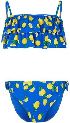 New Look Girls Lemon Print Bandeau Bikini Set