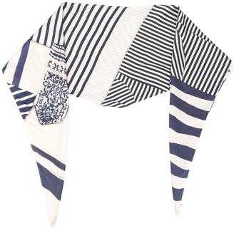 Pierre Louis Mascia Aloe milti-stripe scarf