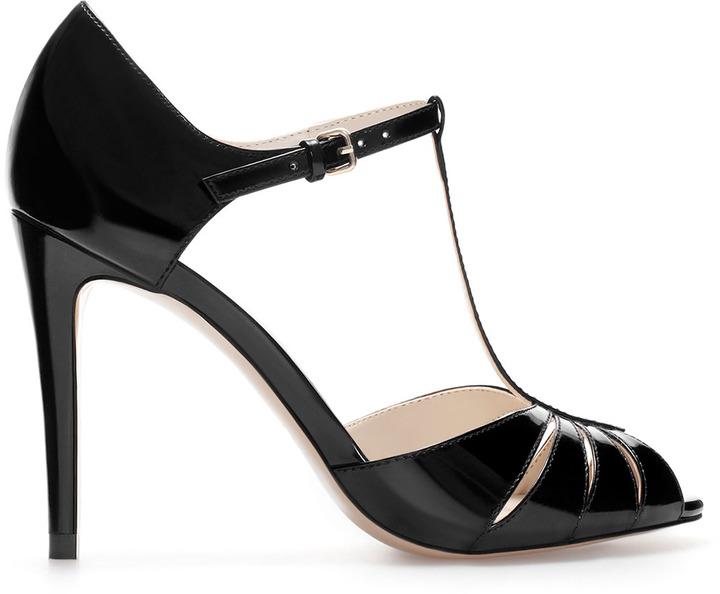 Zara High Heel Shiny Shoe