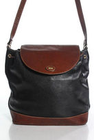 Bally Blue Leather Drawstring Shoulder Handbag Size Medium