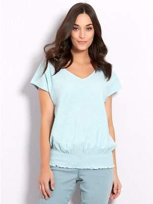 M&Co Shirred hem t-shirt