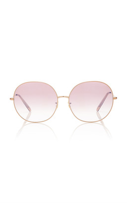 Oliver Peoples Darlen Oversized Round-Frame Metal Sunglasses
