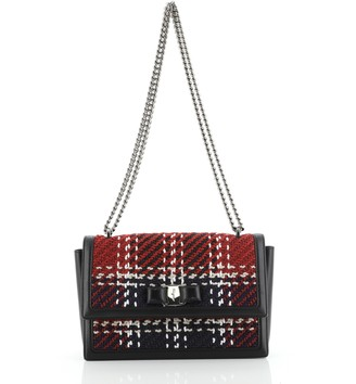 Salvatore Ferragamo Ginny Crossbody Bag Woven Raffia Medium