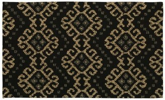 Waverly Color Motion Black Area Rug Rug Size: Rectangle 5' x 7'