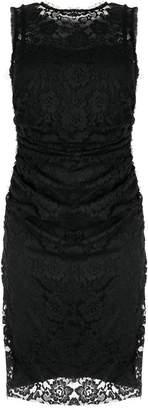 Paule Ka fitted lace panel dress