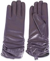 Quivano Women's Leather Gloves With Ruffle Cuff # 313-200