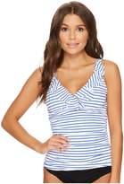 Lauren Ralph Lauren City Stripe Ruffle Tankini Women's Swimwear