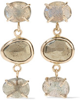 Melissa Joy Manning 14-karat Gold, Labradorite And Pyrite Earrings - one size