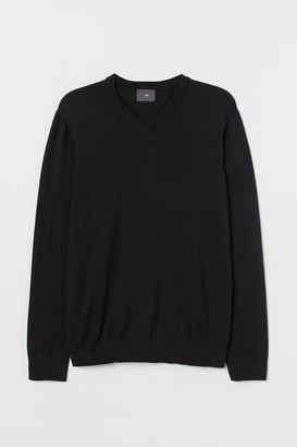 H&M V-neck Cotton Sweater