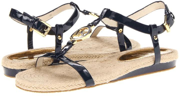 MICHAEL Michael Kors Hope Sandal (Navy Patent) - Footwear