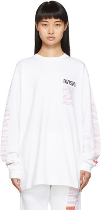 Heron Preston White Facts Long Sleeve T-Shirt