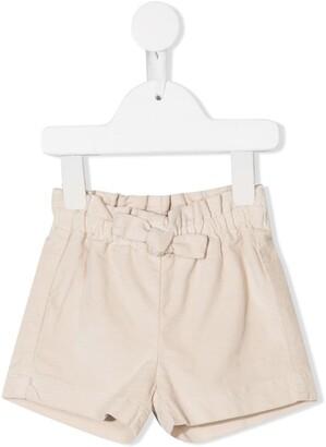 Il Gufo Bow Detail Plain Shorts