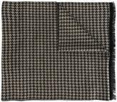 Canali houndstooth pattern scarf
