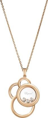 Chopard Rose Gold and Diamond Happy Dreams Pendant