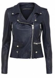 Mdk MDK - Seattle Colour Leather Jacket - 36 / Blue Night - Blue