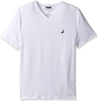 Nautica Men's Short Sleeve Stretch Slim Fit Vee Neck T-Shirt