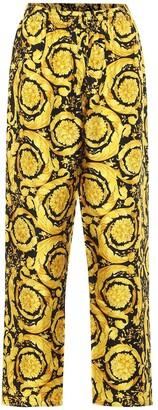 Versace Barocco-print silk pants