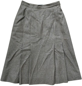 Aquascutum London Brown Wool Skirt for Women