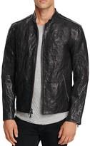 John Varvatos Collection Leather Zip Hardware Jacket