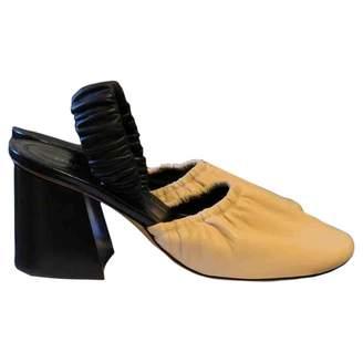 Celine Soft Ballerina Beige Leather Heels
