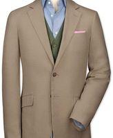 Charles Tyrwhitt Slim fit beige linen jacket