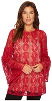 MICHAEL Michael Kors Bell Sleeve Lace Tunic Women's Blouse