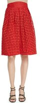 Zac Posen High-Waisted Cutwork Embroidered Skirt