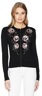 Nanette Lepore Women's cha Embellished Sweater Cardigan