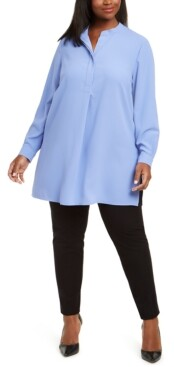 Anne Klein Plus Size Vented-Hem Tunic