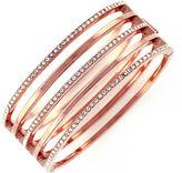 Vince Camuto Rose Goldtone and Crystal Stacked Bangle Bracelet
