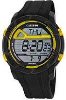 Calypso Men's Digital Watch with LCD Dial Digital Display and Black Plastic Strap K5697/5
