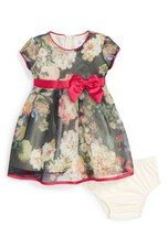 Us Angels Infant Girl's Floral Mesh Dress