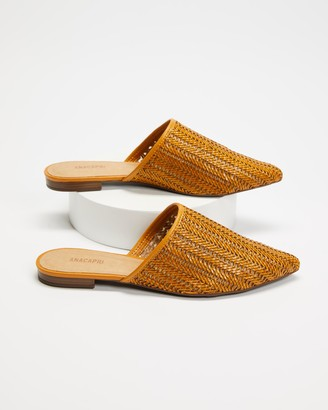 Anacapri - Women's Brown Loafers - Tresse Mules - Size 38 at The Iconic