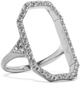 Elizabeth and James Nyos gunmetal-tone and crystal ring