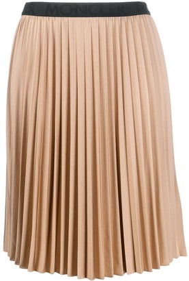 Moncler Stretch Waistband Pleated Skirt